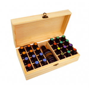houten-opbergkist-essentiele-olie-25-vakjes